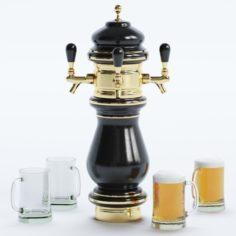 Beer Tower-Beer Tap 3D Model