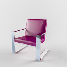 Purple Leather Chair                                      Free 3D Model
