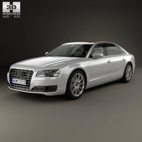 Audi A8 L with HQ interior 2014 3D Model