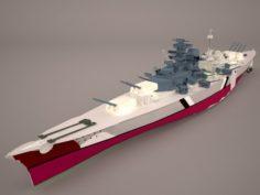 Bismarck class battleship 3D Model