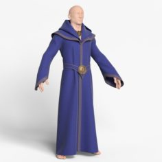 Balakhon the Magician Blue 3D Model