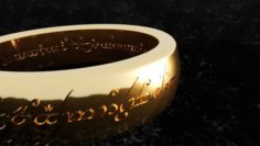 The lord of the rings – Ring of omnipotence 3D print model 3D Model