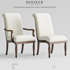 Hooker Furniture Archivist Upholstered Chair 3D Model