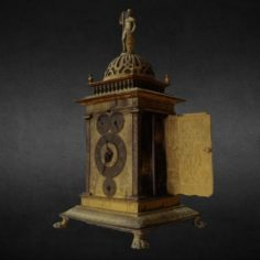 Table clock engraved with Allegories of the Liberal Arts						 Free 3D Model