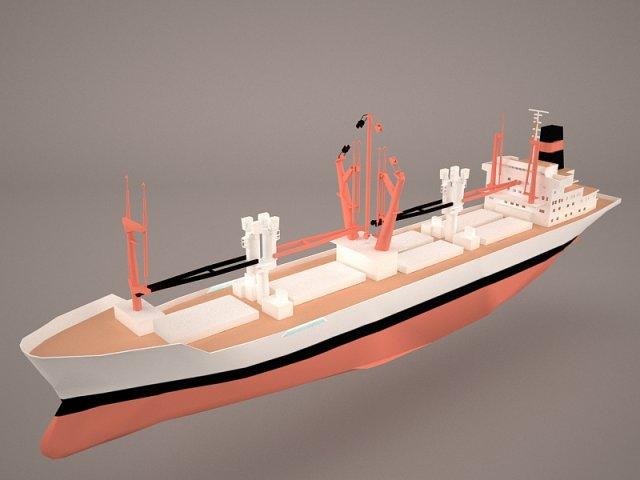 Bahrain Ship 3D Model