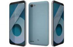 LG Q6 Ice Platinum 3D Model