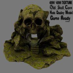 Mossy skull cave 3D Model