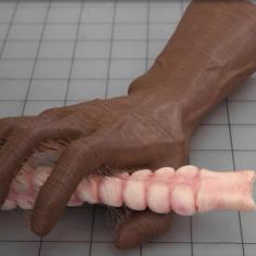 Hallow Hand with Servo 3D Print Model