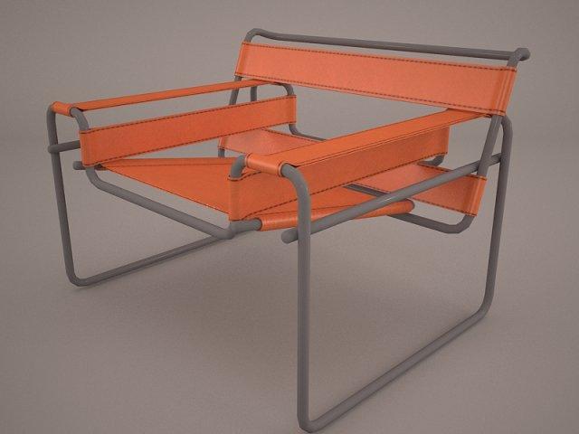 Marcel Breuer D40 Cantilever Armchair 3D Model