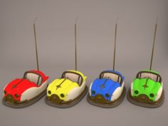 Auto-Scooter and Bumper Cars 3D Model