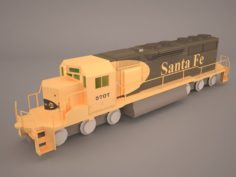 Locomotive EMD SD70ACe BNSF 3D Model