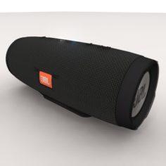 JBL Charge 3 Black Bluetooth Portable Speaker 3D Model