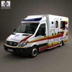 Mercedes-Benz Sprinter W906 Ambulance 2011 3D Model