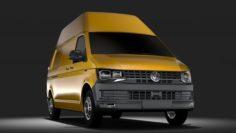 Volkswagen Transporter Van L2H3 T6 2017 3D Model