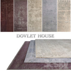 Carpets DOVLET HOUSE 5 pieces (part 46)                                      Free 3D Model