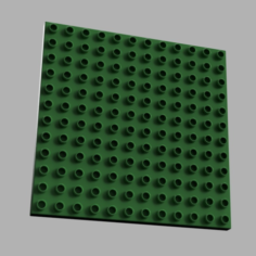 LEGO DUPLO compatible base 12 x 12 – 1/2 height 3D Print Model