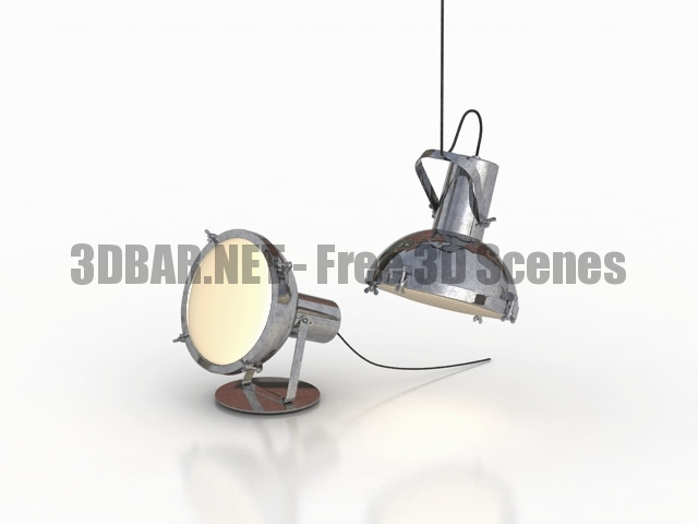 NEMO Projecteur 165 pendant lamp Projecteur 365 floor 3D Collection