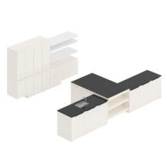 Kitchen Furniture Set 19 3D Model