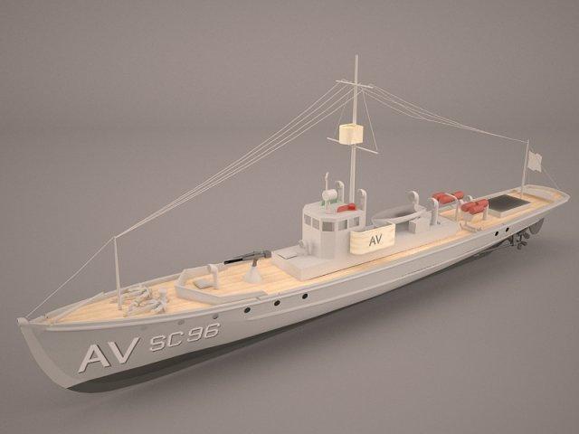 Aviso Comet Imperial German Navy 3D Model