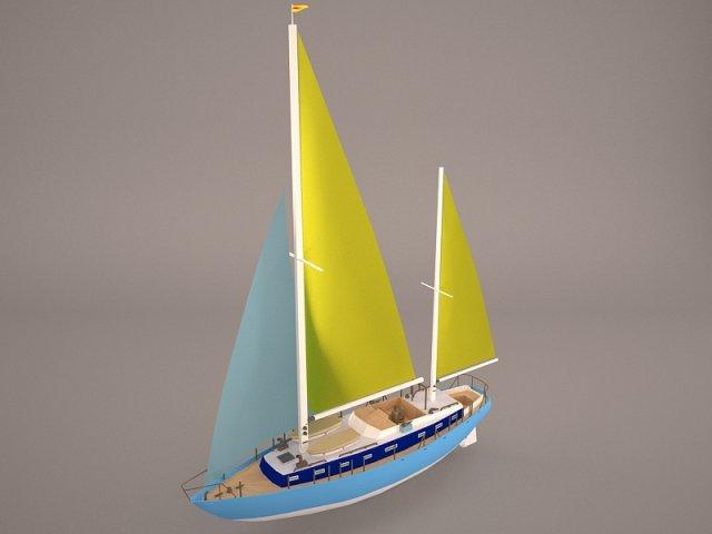 Moonli Ship 3D Model