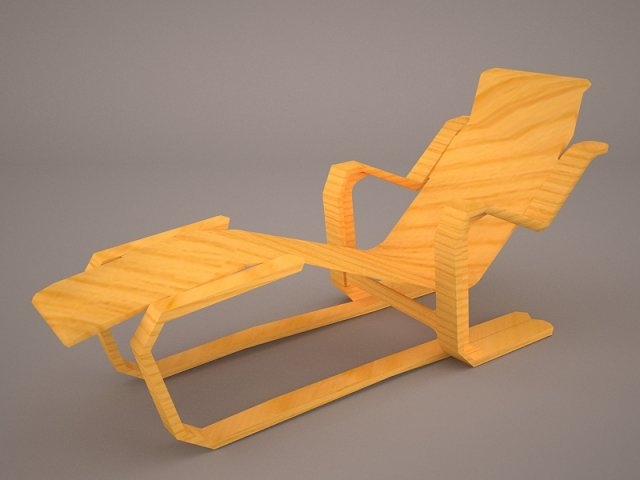 Bruno Mathsson Chaise Lounge 3D Model