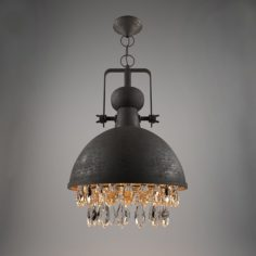 Ceiling lamp INDUSTRIAL PENDANT WITH CRYSTALS 3D Model
