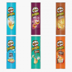 Pringles Potato Chips 3D Model
