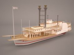 Wheeled Steamboat Belle of Louisville 3D Model