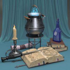 Magical Still Life 3D Model