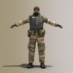 Arab Terrorist 3D Model