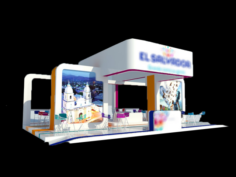 Stand- Exhibition Booth 12x9m 3D Model