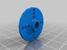 Servo Horn Compatible with Futaba 3F or Hitec H25T  3D Print Model