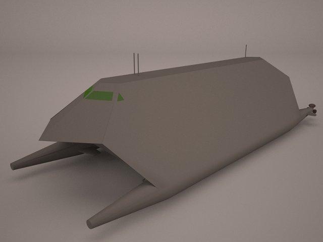 HSV-2 Swift Hybrid Catamaran 3D Model