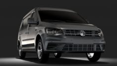 Volkswagen Caddy Panel Van L2 2RD 2017 3D Model