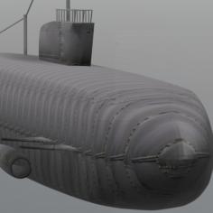 Submarine 3D Print Model