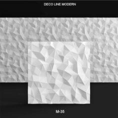 3D panel DECO LINE MODERN 3D Model