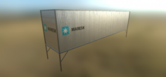 Shipping Container Free 3D Model