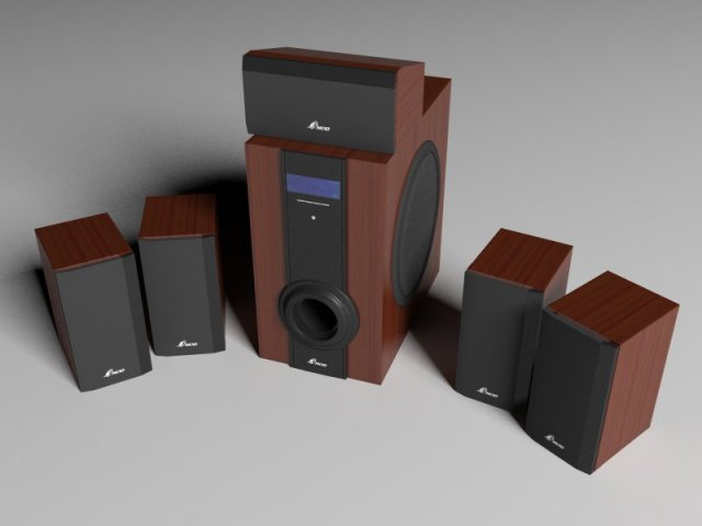 Sound system 3ds 3D Model