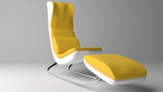 Office Armchair Comfy Free 3D Model
