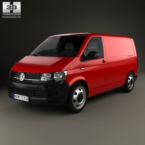 Volkswagen Transporter T6 Panel Van 2016 3D Model