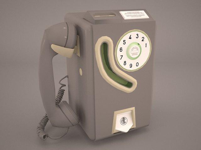 Vintage Payphone 3D Model