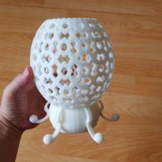 flower patterned lamp 3D Print Model