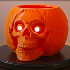 Pumpkin Skull Remix 3D Print Model