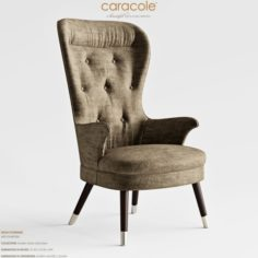 Caracole High Powered Met Chair-05A 3D Model