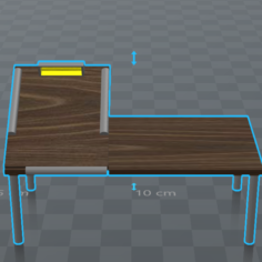 Multi Purpose Art Desk 3D Print Model