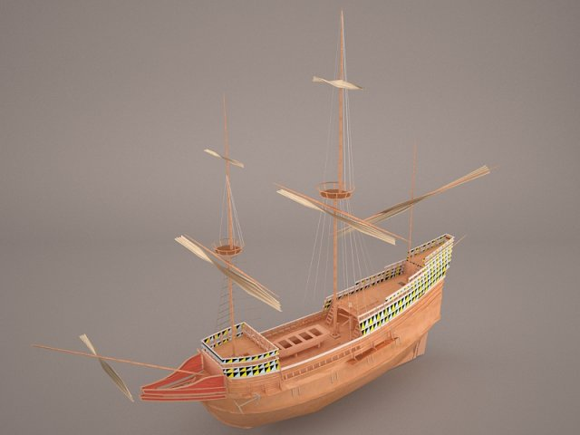 Ship Boat 3D Model