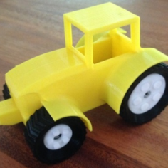 Snap Together Farm Tractor – minor mods 3D Print Model