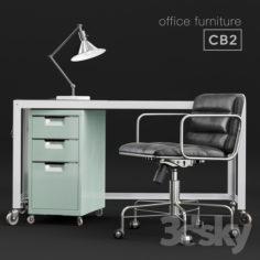 CB2 office furniture                                      3D Model
