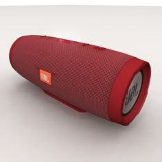 JBL Charge 3 Red Bluetooth Portable 3D Model