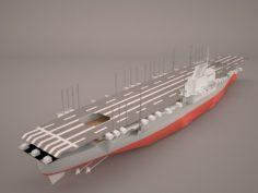 Shokaku carrier 3D Model